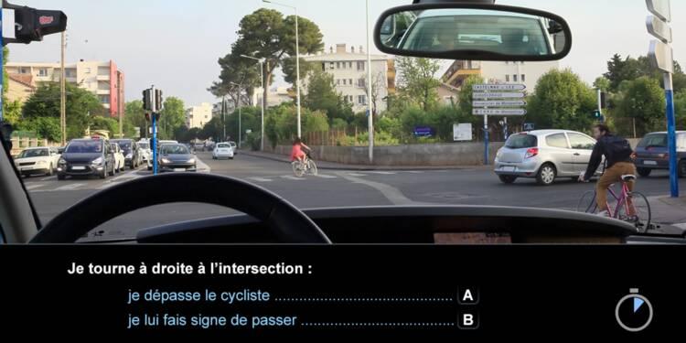 Code la route, question 6 : cycliste