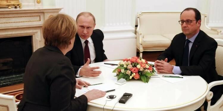 Poutine parle avec Merkel et Hollande de lutte anti-terroriste