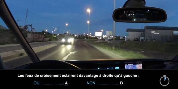 Code la route, question 21 : feux de croisement