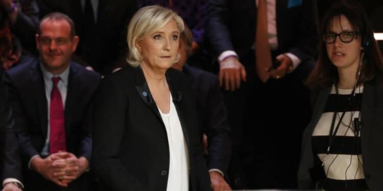 Le Pen (26%) devance Macron (24%) et Fillon (19%), selon un sondage Opinionway