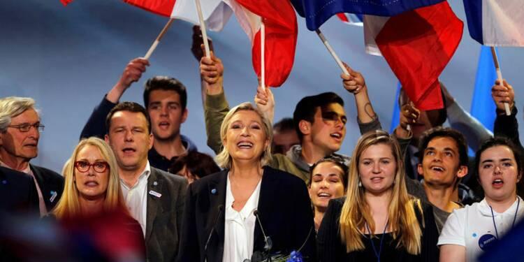Le Pen (25%) devance Macron (24%) et Fillon (20%), selon un sondage Opinionway