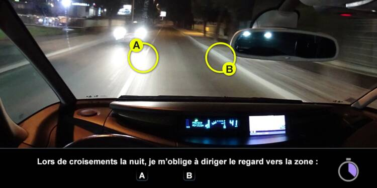 Code la route, question 12 : croisement de nuit