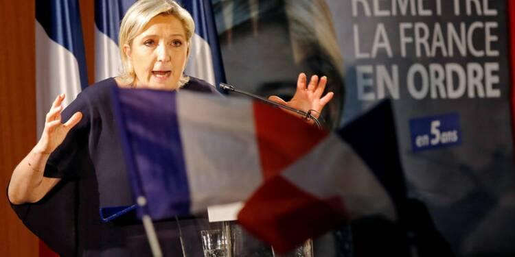 """Le """"Frexit"""" promis par Marine Le Pen inquiète les banques"""