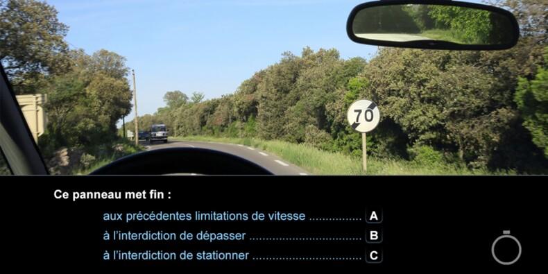 Code de la route, question 20 : panneau