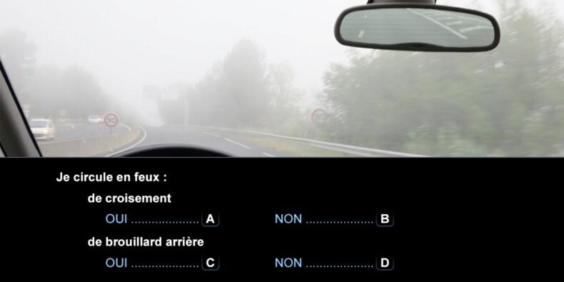 Code la route, question 23 : brouillard