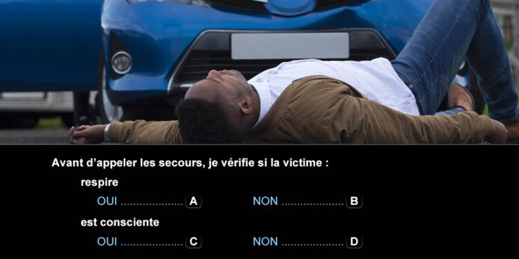 Code la route, question 7 : secours
