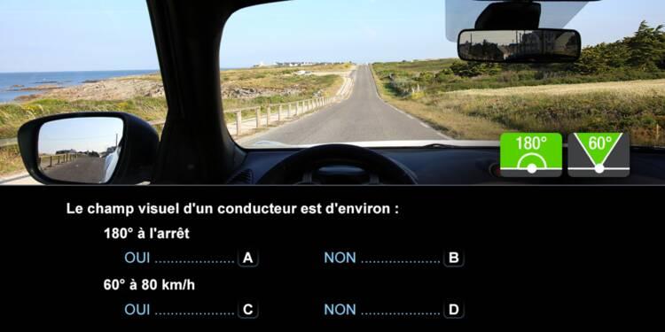 Code la route, question 13 : champ visuel