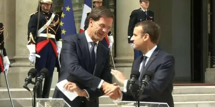 Macron reçoit le Premier ministre des Pays-Bas Mark Rutte