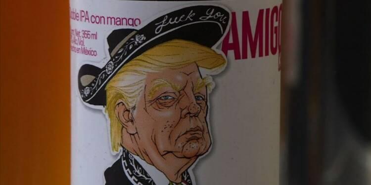 Donald Trump en mariachi mexicain sur une marque de bière