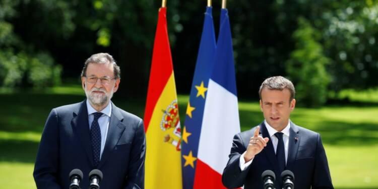 Grèce: Macron et Rajoy saluent l'accord, l'Espagne fait pression