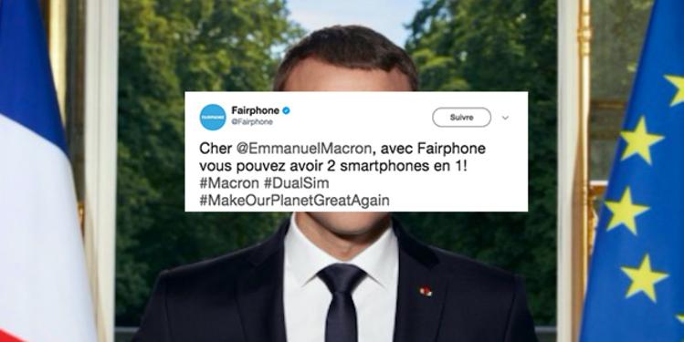 Une start-up écologiste se moque des iPhone de Macron