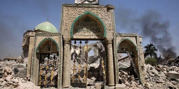 Irak: la mosquée de Mossoul reprise, la ville bientôt libérée