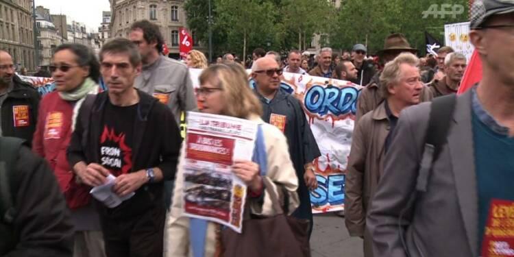 Manifestation à Paris contre le projet de loi antiterroriste