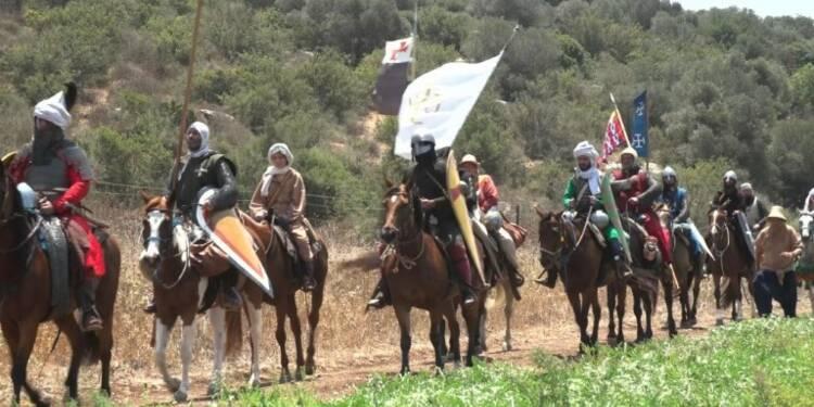 Reconstitution en Israël de la bataille de Hattin