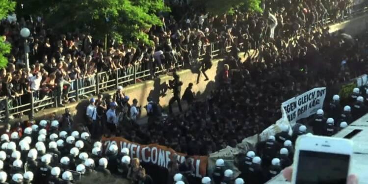 Début d'une manifestation anti-G20 à haut risque à Hambourg