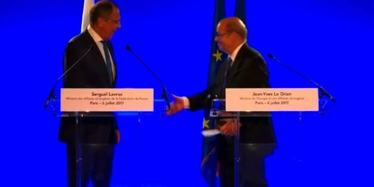 Le Drian et Lavrov évoquent la Syrie et l'Ukraine