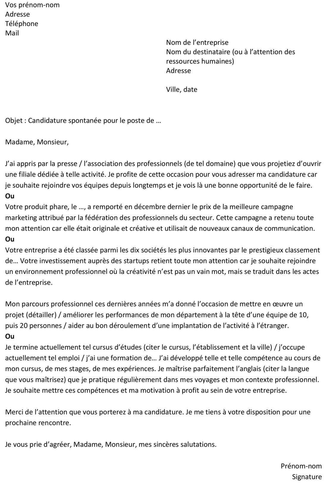 lettre de motivation quand on est deja en cdi