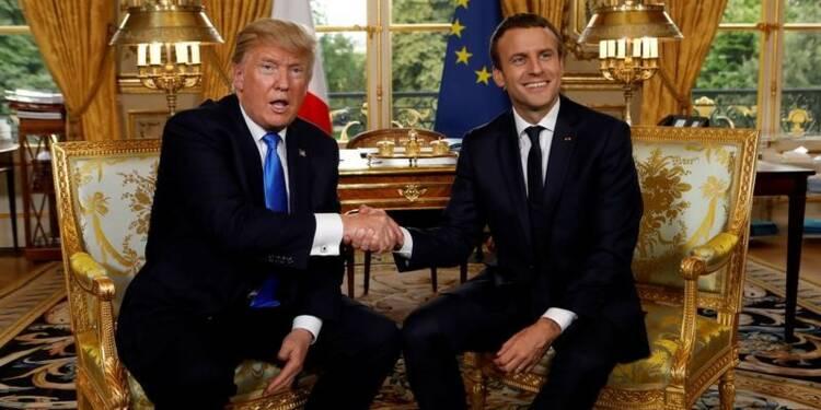 A Paris, Trump et Macron rivalisent d'amabilités