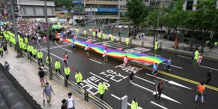 Séoul: manifestation pour les droits des homosexuels