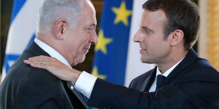Macron plaide devant Netanyahu pour une reprise du dialogue