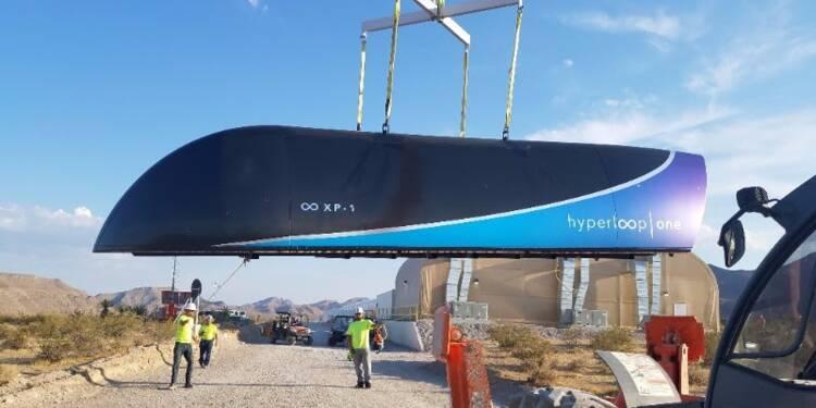 Le train du futur Hyperloop réussit son premier test