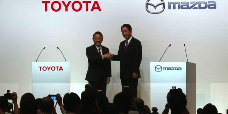 Toyota annonce un accord de partenariat avec Mazda