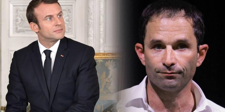 Présidentielle : Pour leur communication, Macron et Hamon ont flambé