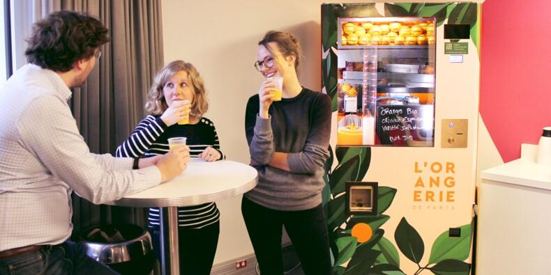 L'Orangerie de Paris, la start-up qui a inventé le distributeur d'oranges pressées