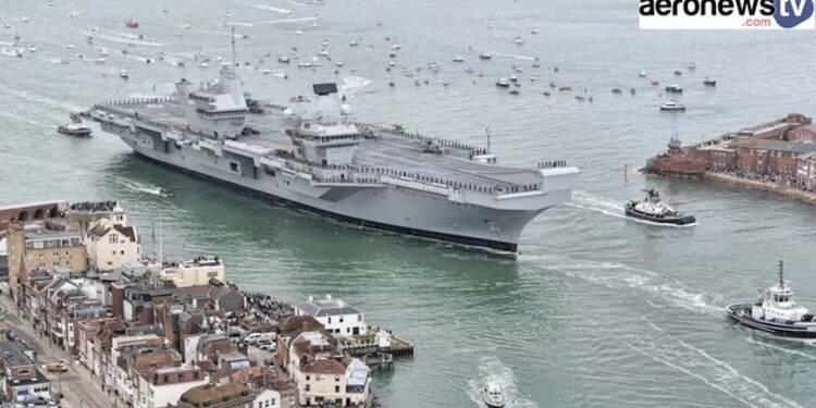 D couvrez les premi res images du nouveau porte avions de la marine britannique - Plus grand porte avion du monde ...