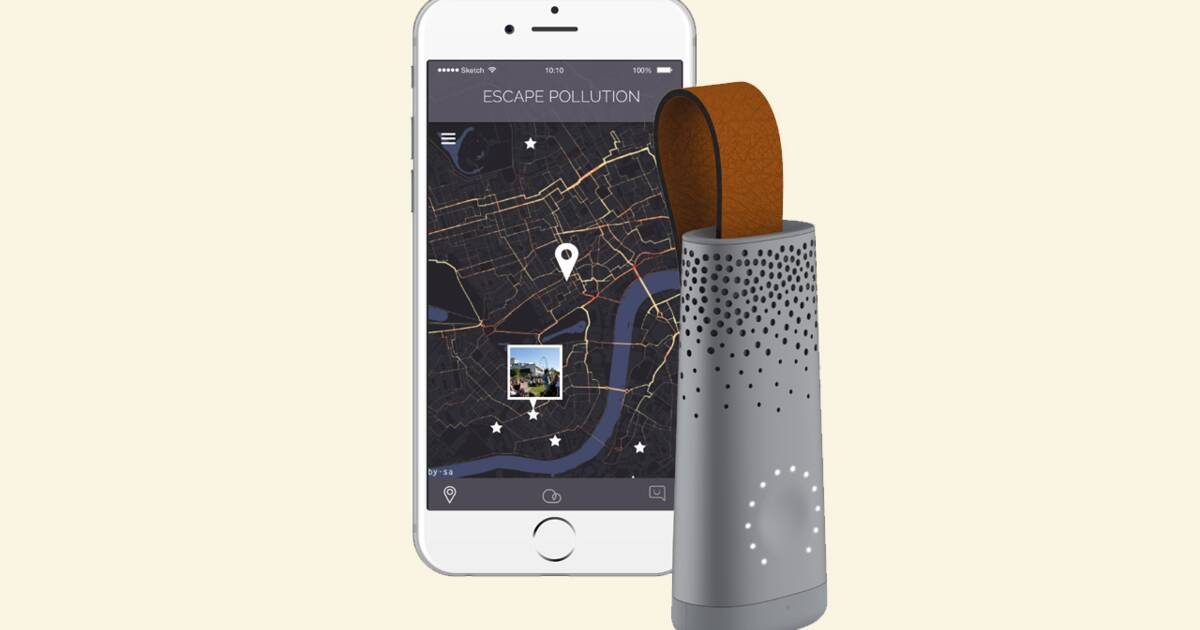 un capteur pour mesurer la qualit de l 39 air avec votre smartphone. Black Bedroom Furniture Sets. Home Design Ideas