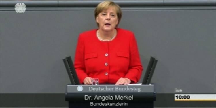 Merkel fait le bilan de son mandat au Bundestag