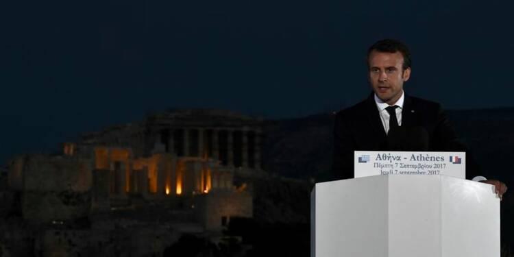 Macron plaide à Athènes pour une réforme ambitieuse de la zone euro