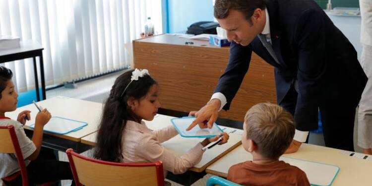 """Macron promet de """"transformer l'Ecole comme jamais"""""""