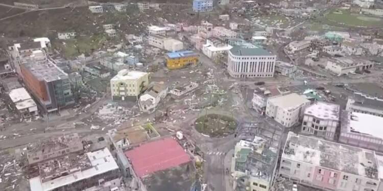 L'ouragan Irma provoque des dégâts sur l'île de Tortola