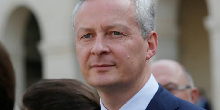 Pression fiscale réduite de 10 milliards d'euros fin 2018 dit Le Maire