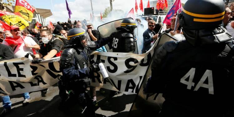 Incidents à Paris et Lyon dans les manifestations