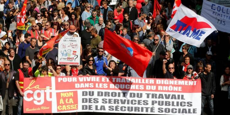 """La manifestation sur le travail, """"un échec"""", selon un sondage"""