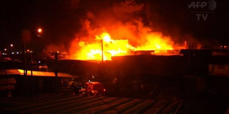Côte d'Ivoire: un incendie ravage un grand marché d'Abobo