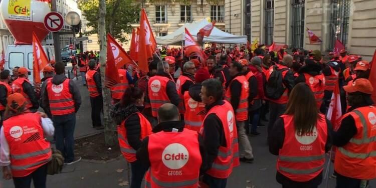 Rassemblement de routiers devant le ministère du Travail