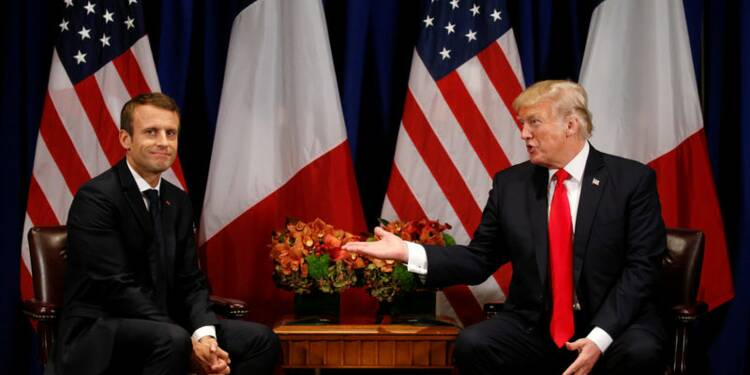 Echanges d'amabilités entre Trump et Macron avant leur entretien
