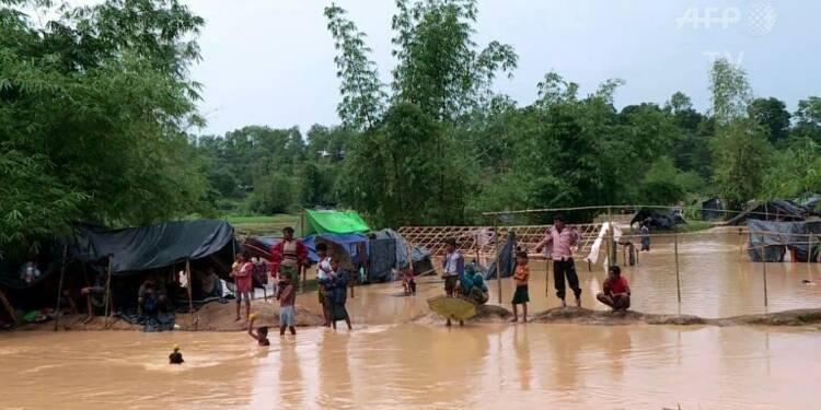 Bangladesh: des camps de réfugiés rohingyas inondés