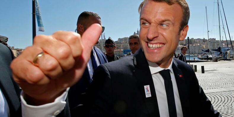 A Marseille, Macron assure que les JO bénéficieront à tout le pays