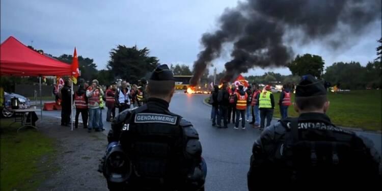 La raffinerie de Donges bloquée par les routiers