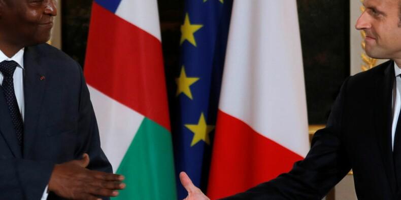 Macron assure la Centrafrique de son soutien à l'Onu