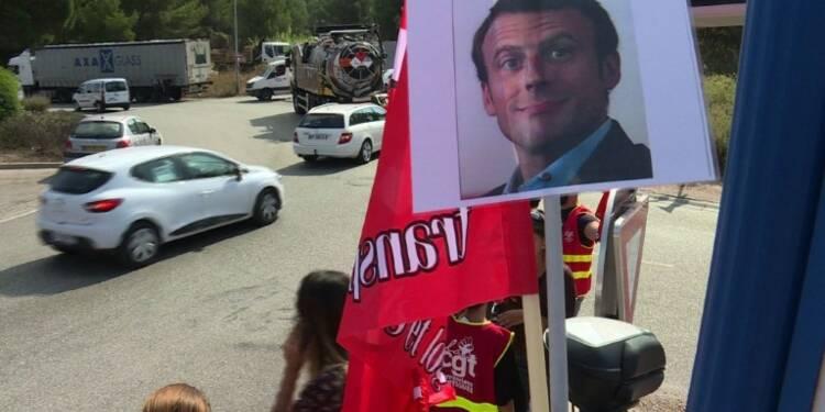Réforme du travail: les routiers toujours mobilisés à Martigues