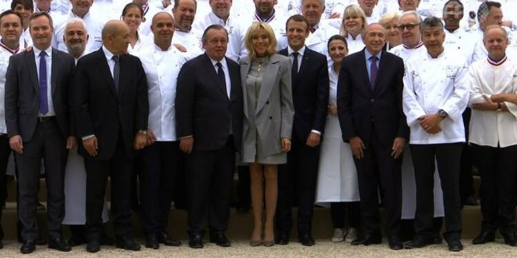 Macron reçoit 180 chefs à l'Elysée, une première