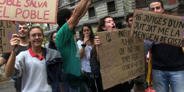 Catalogne: les étudiants dans la rue, appels au civisme