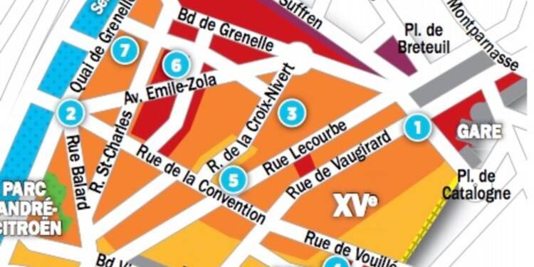 Immobilier à Paris : les prix, rue par rue, dans le 15ème arrondissement