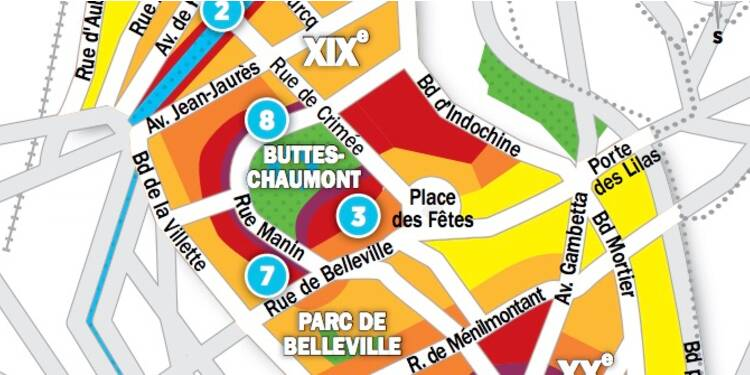 Immobilier à Paris : les prix, rue par rue, dans les 19ème et 20ème arrondissements