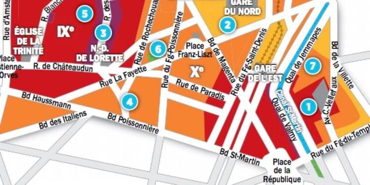 Immobilier à Paris : les prix, rue par rue, dans les 9ème et 10ème arrondissements